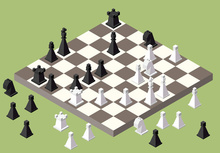 chess king: chess isometric. game isometric series