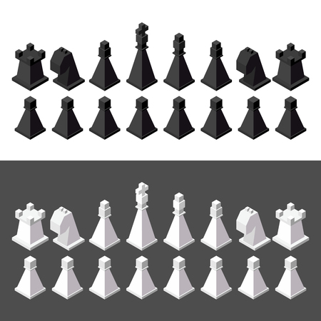 chess pieces: chess isometric. game isometric series