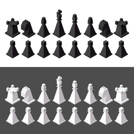 chess: chess isometric. game isometric series