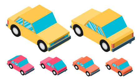 leverage: car isometric Illustration