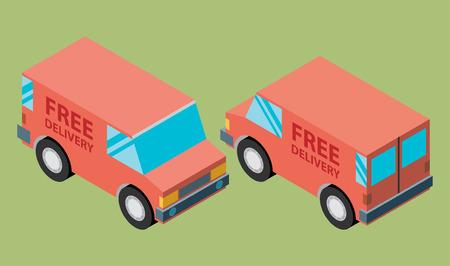 mail truck: �argo delivery vans Illustration