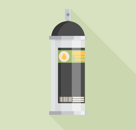 """""""paint can"""": Spray Paint Can Flat Icon Illustration"""
