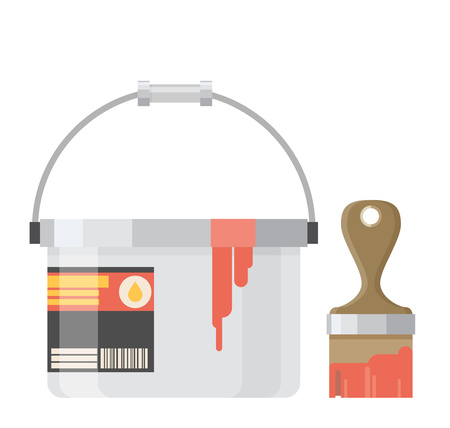 """""""paint can"""": Paint Can with Brush"""