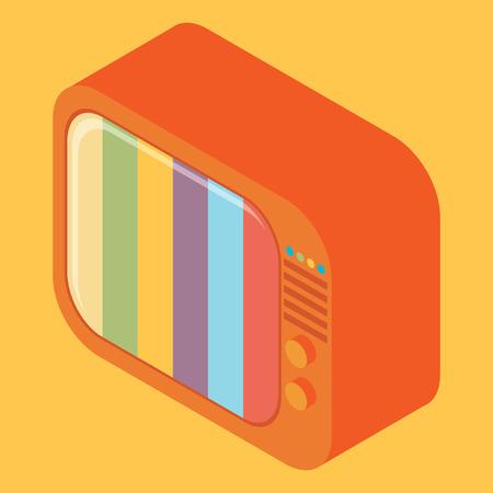 tele communication: Isometric retro TV