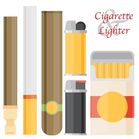 ljusare: Cigarette and lighter set.