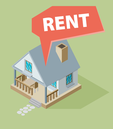 house for rent: House for rent. Vector illustration. Illustration