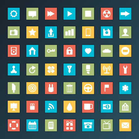 web icons: Universal Flat Icons. For Web and Mobile