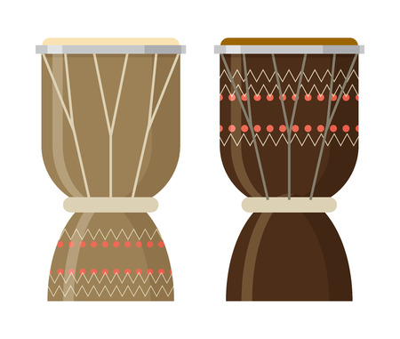 djembe drum: Vector illustration of African djembe drum