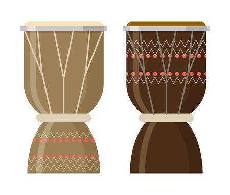 djembe: Vector illustration of African djembe drum