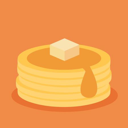 팬케이크의 등각 투영 아이콘 일러스트