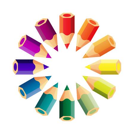 lapiz y papel: conjunto de vectores de lápices de colores