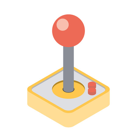 over: Computer Video Game Joystick. Vector illustration