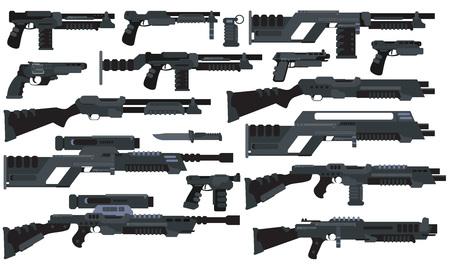 Futuristic Sci-Fi weapons Illustration