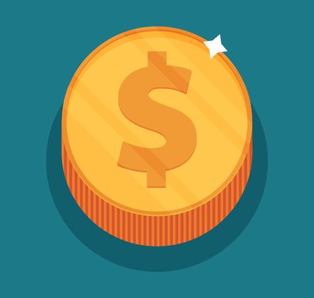 monet: Money symbol, flat vector