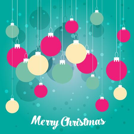 christmas greeting card: Christmas greeting card. Vector illustration
