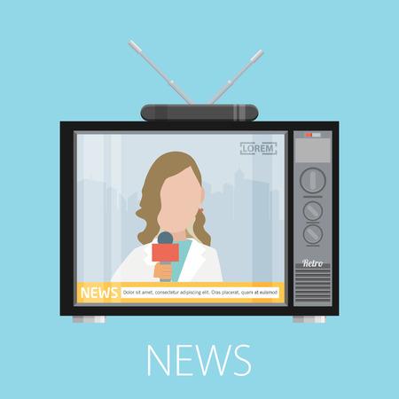 newscaster: news concept design, vector illustration eps10 graphic Illustration