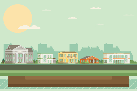 Flat vector buildings.