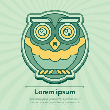 owl illustration: Vector illustration. Owl. Illustration