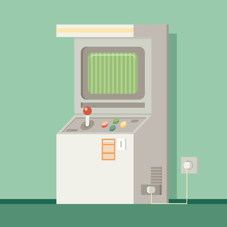 unsuccess: Retro arcade machine. Flat style vector illustration. Illustration