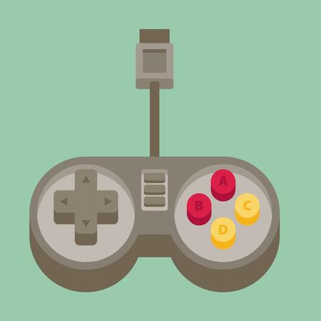 video icons: Flat joystick icon Illustration