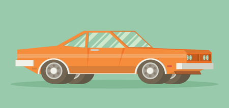 muscle car: Muscle car. Flat styled vector illustration Illustration