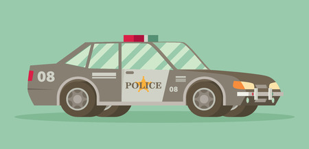 highway patrol: Police car with the sheriffs star on the door. Illustration