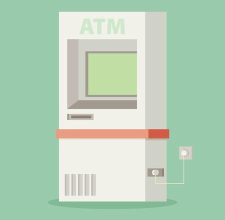 automatic transaction machine: M�quina de la atm�sfera - ilustraci�n vectorial