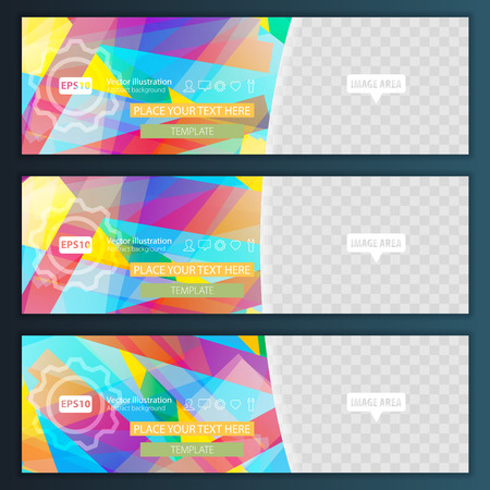 label tag: Abstract background set banners color