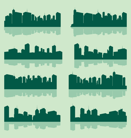 lanscape: vector city lanscape set