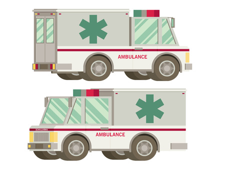 acute: Ambulance flat vector Illustration