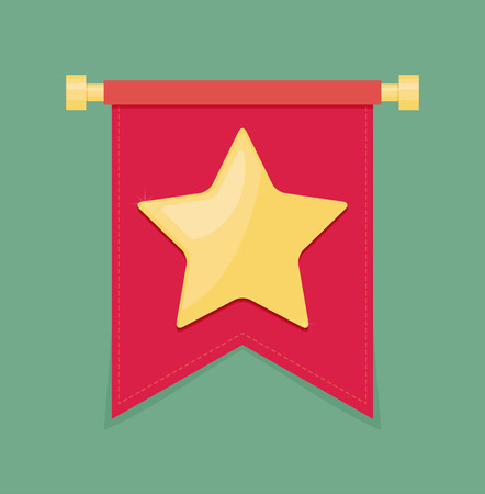 banneret: Gold star on the flag icon