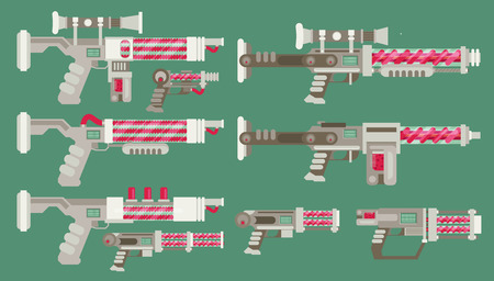 Futuristic Sci-Fi weapons Illustration