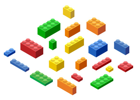 edutainment: Isometric Plastic Building Blocks and Tiles