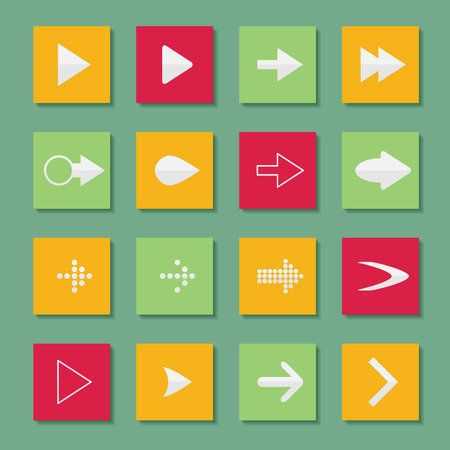pointer emblem: Set arrow icons vector illustration of web design elements.