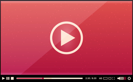Video player for web Illustration