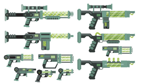 weapons: Futuristic Sci-Fi weapons Illustration