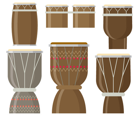 african drums: Vector illustration of African drums Illustration