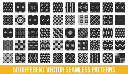 big deal: Different ornamental geometric big pattern set
