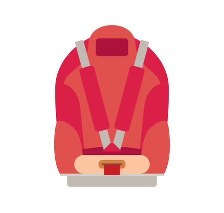 Car Seat Child Safety isolated 矢量图片