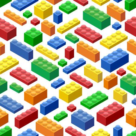 Seamless background. Isométriques plastique blocs et tuiles de construction Banque d'images - 55944959