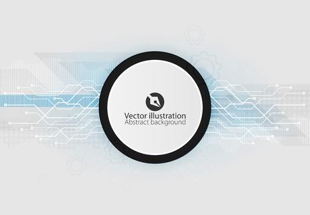 Vector illustration Abstract futuristic circuit board, hi-tech computer digital technology concept