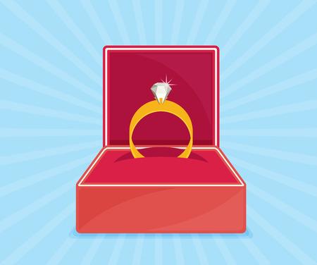 jewel box: Ring with diamond or jewel in box