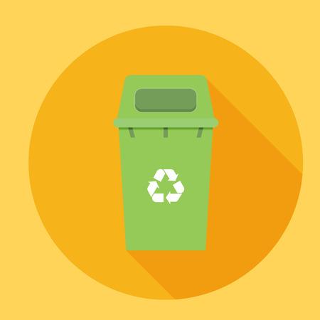 refuse bin: Waste sorting garbage bin vector Illustration