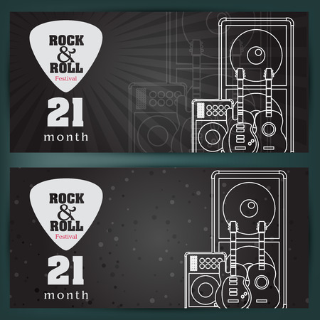 pickups: Music banner background. vector illustration