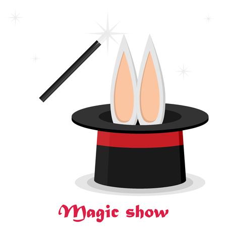 abracadabra: Magic trick. Flat style design - vector