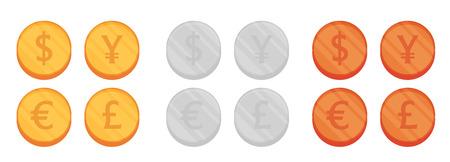 converter: Flat Coin vector set