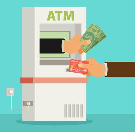 availability: Vector flat ATM illustration Illustration
