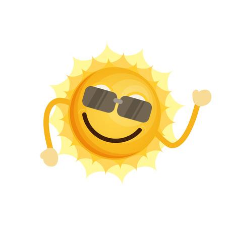Icono de sol plana del vector.
