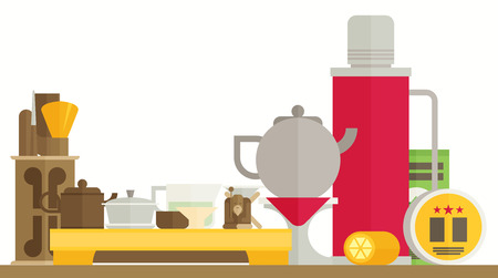 tea ceremony: Tea ceremony flat vector