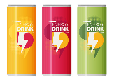 Energy drink design over white background, vector illustration.